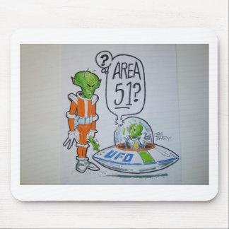 Astronauta del área 51 alfombrillas de raton