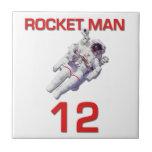 Astronauta del baloncesto del hombre 12 de Rocket Azulejos Cerámicos