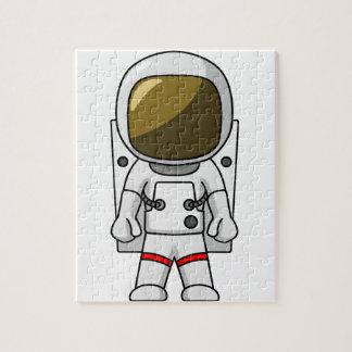 Astronauta del dibujo animado puzzle