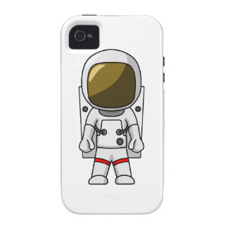 Astronauta del dibujo animado vibe iPhone 4 fundas