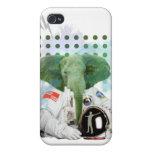 Astronauta del elefante iPhone 4/4S funda