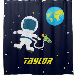 Astronauta del espacio exterior, cortina de ducha cortina de baño