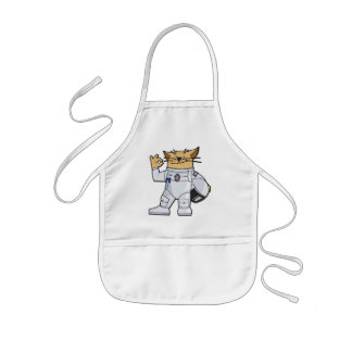 Astronauta del gato delantales