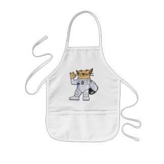 Astronauta del gato delantal infantil
