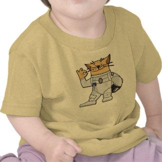 Astronauta del gato camiseta