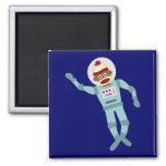 Astronauta del mono del calcetín imán de nevera