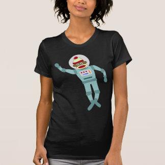 Astronauta del mono del calcetín polera