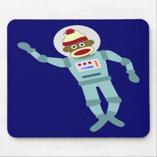 Astronauta del mono del calcetín tapetes de ratones