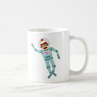 Astronauta del mono del calcetín taza de café