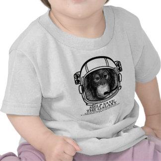 Astronauta del orangután - ahorre la galaxia camisetas