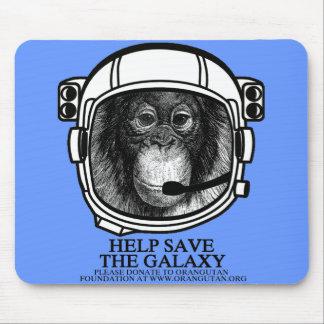 Astronauta del orangután - ahorre la galaxia alfombrilla de ratón