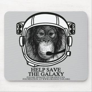 Astronauta del orangután - ayuda ahorrar la galaxi tapete de ratones
