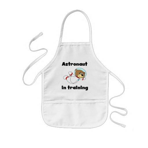 Astronauta del oso en camisetas y regalos del entr delantales