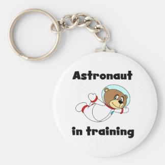 Astronauta del oso en camisetas y regalos del entr llavero redondo tipo pin