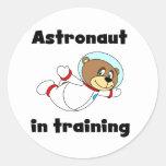 Astronauta del oso en camisetas y regalos del pegatina redonda