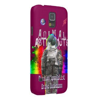 Astronauta del pato en espacio del arco iris funda de galaxy s5