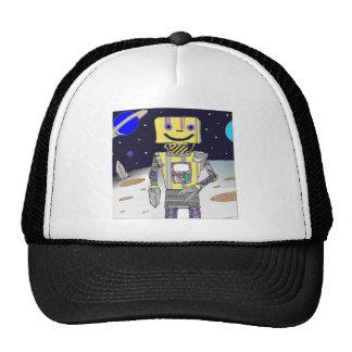 Astronauta del robot en espacio gorras
