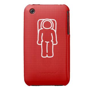 Astronauta divertido Case1 rojo iPhone 3 Fundas