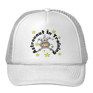 Astronauta en camisetas y regalos del entrenamient gorra