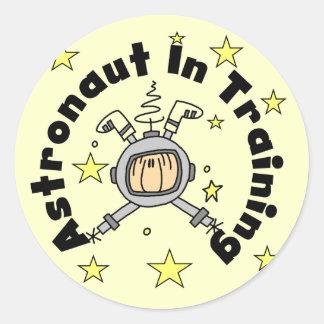 Astronauta en camisetas y regalos del pegatinas redondas