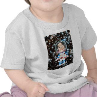 Astronauta en el entrenamiento - plantilla del niñ camisetas