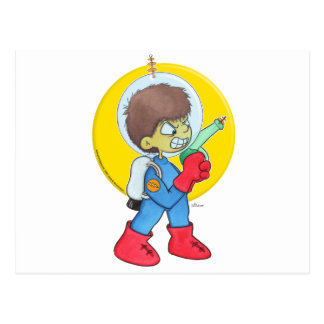 Astronauta enojado postales