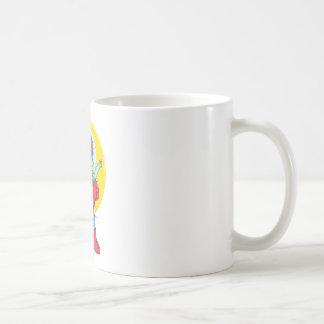Astronauta enojado taza de café