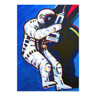 Astronauta, fondo azul anuncios