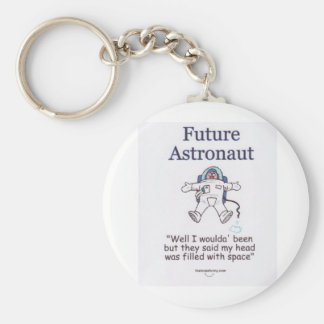 Astronauta futuro llavero redondo tipo pin