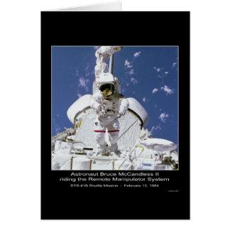 Astronauta Gernhardt que monta al M.S. alejado Nas Tarjeta De Felicitación