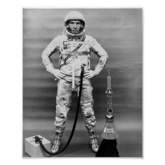 Astronauta Gualterio Schirra de la sigma 7 (MA-8) Poster