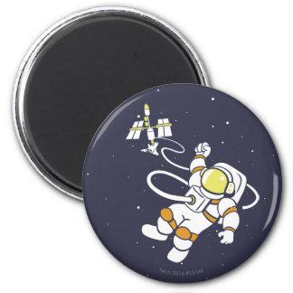 Astronauta Imán Redondo 5 Cm