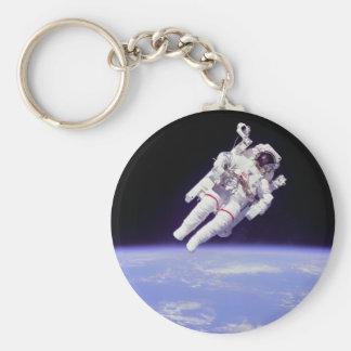 Astronauta Llavero Redondo Tipo Pin