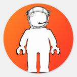 Astronauta Minifig del estilo de Banksy Pegatina Redonda