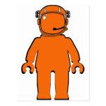 Astronauta Minifig del estilo de Banksy Postal
