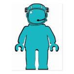 Astronauta Minifig del estilo de Banksy Tarjeta Postal