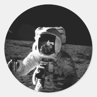Astronauta Pegatinas Redondas