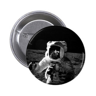 Astronauta Pin Redondo De 2 Pulgadas