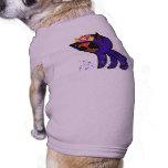 Astronauta púrpura camiseta de mascota