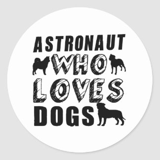 astronauta que ama perros pegatina redonda