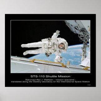 Astronauta Rex J Walheim al lado del balneario in Poster