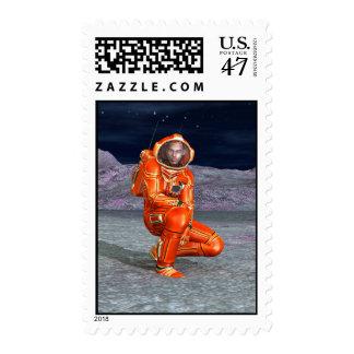 Astronauta Sello Postal