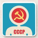 astronauta soviético posavasos de bebida