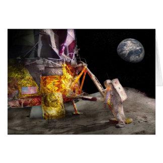 Astronauta - un pequeño paso tarjeta de felicitación