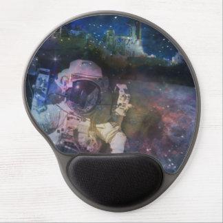 Astronauta - un trabajo con una visión alfombrilla de raton con gel