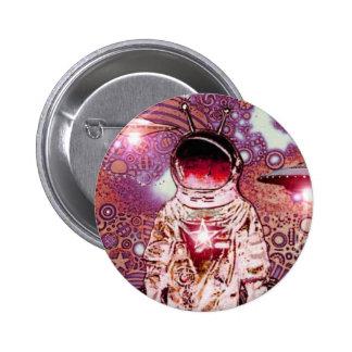 ASTRONAUTA - V - Pinback Pin Redondo 5 Cm