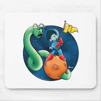 Astronauta y gusano tapetes de ratón