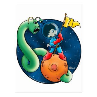 Astronauta y gusano postal