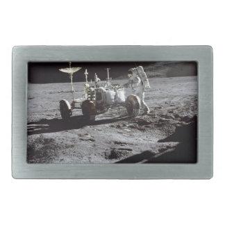 Astronauta y Rover Hebillas De Cinturon Rectangulares