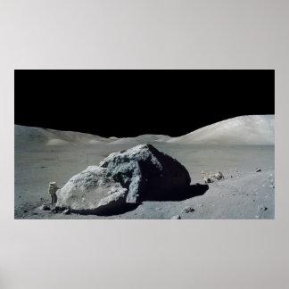 Astronauta y vehículo de Apolo 17 en la luna Impresiones